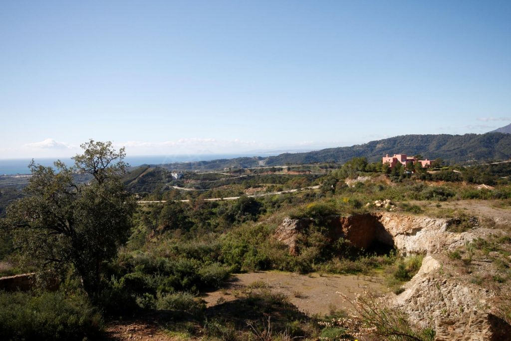 Benahavis, Very well positioned plot for sale in Marbella Club Golf Resort, Benahavis with retaining wall in place