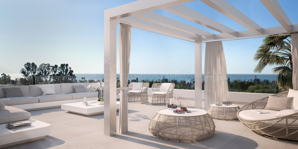 Estepona, New luxury 3 bedroom first floor apartment for sale, New Golden Mile, Estepona, Malaga