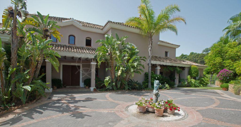 Benahavis, Elegant 5 bedroom Mediterranean villa for sale in La Zagaleta, Marbella, with cinema, bodega, private pool and south facing