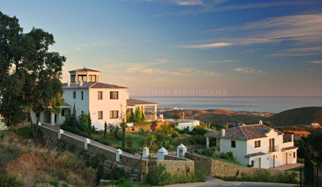 Benahavis, Traditional Andalusian 6 bedroom villa for sale in prime Marbella Club Golf Resort, south facing with panoramic sea views