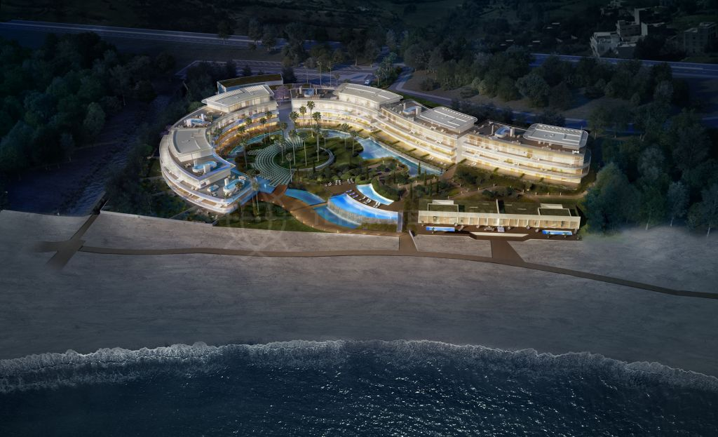 Estepona, New deluxe contemporary apartments on the beach for sale in The Edge, Estepona