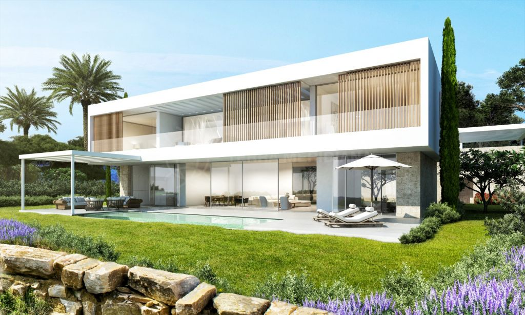 Casares, Stylish modern villa for sale under construction in Casares