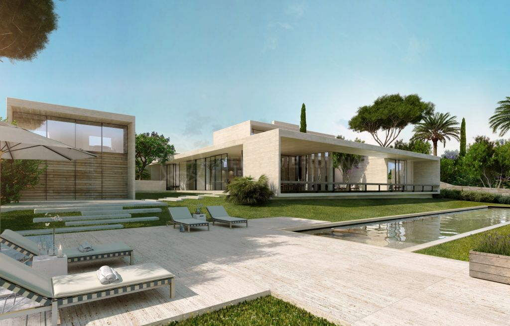 Casares, New 5 bedroom modern villa for sale front line Cortesin golf, Casares