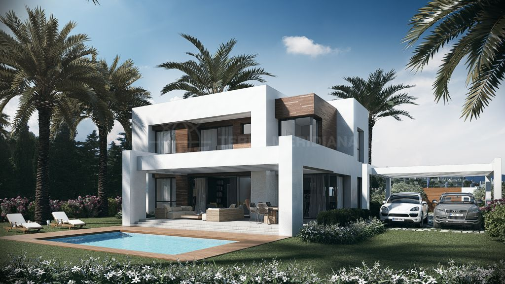 Estepona, New modern 4 bedroom villa, for sale off plan, in El Paraiso, Estepona