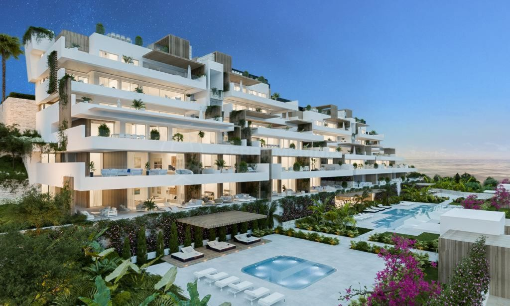 Estepona, Off-plan contemporary ground floor apartment with large terrace walking distance to the beach for sale in Alexia Life, Estepona town