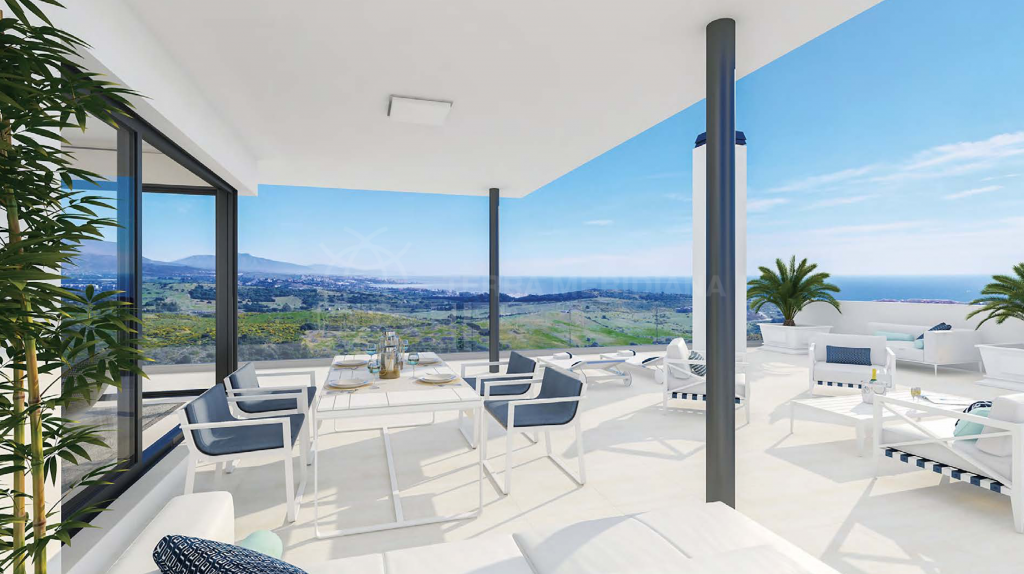 Casares, Brand new luxury penthouse 5 minutes drive from the beach for sale in Las Terrazas de Cortesín Bon Air, Casares