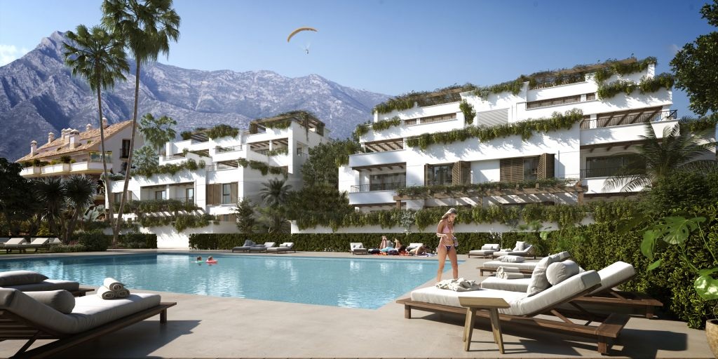 Marbella Golden Mile, Off plan first-floor apartment of the highest quality materials for sale in the emblematic Lomas del Rey, Marbella Golden Mile