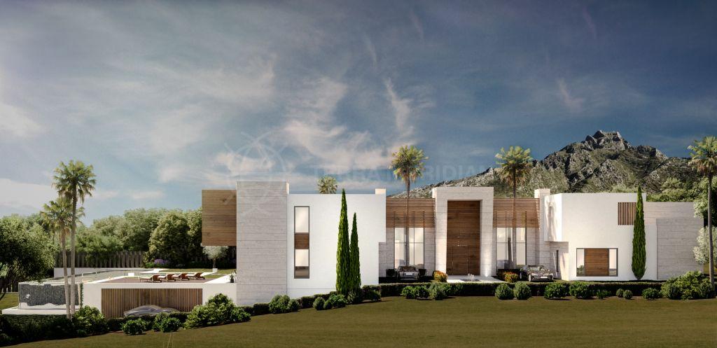 Marbella Golden Mile, Excepcional parcela con proyecto y vistas a la costa mediterránea en el ultra-exclusivo barrio de Camojan, Marbella Milla de Oro