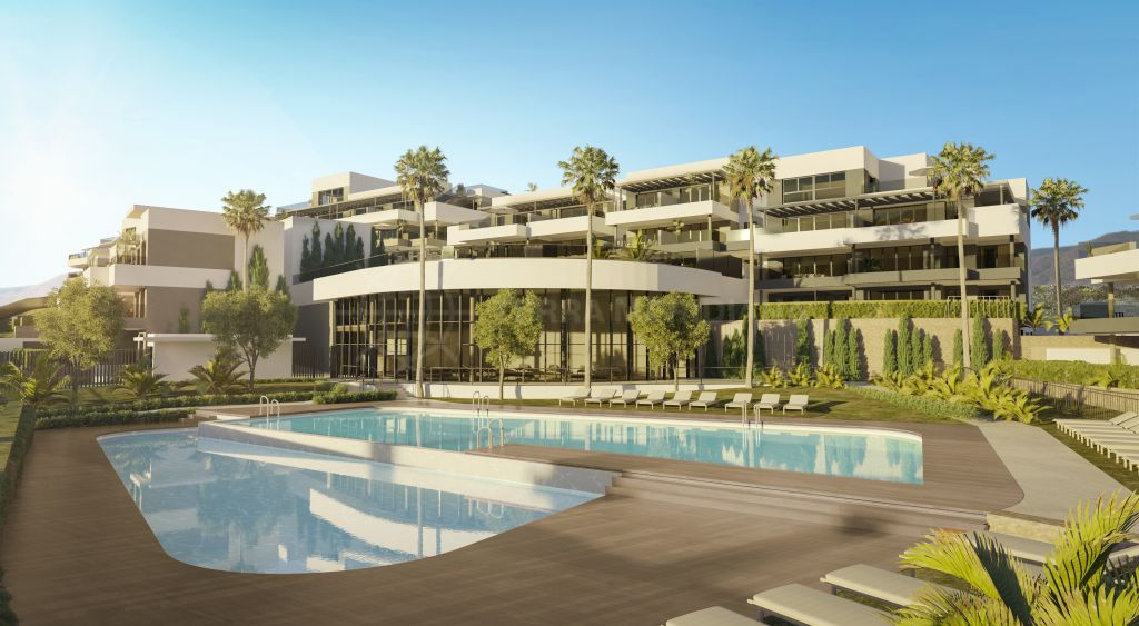 Estepona, Brand new beachside ground floor apartment for sale in the contemporary development of Mesas Homes, Estepona
