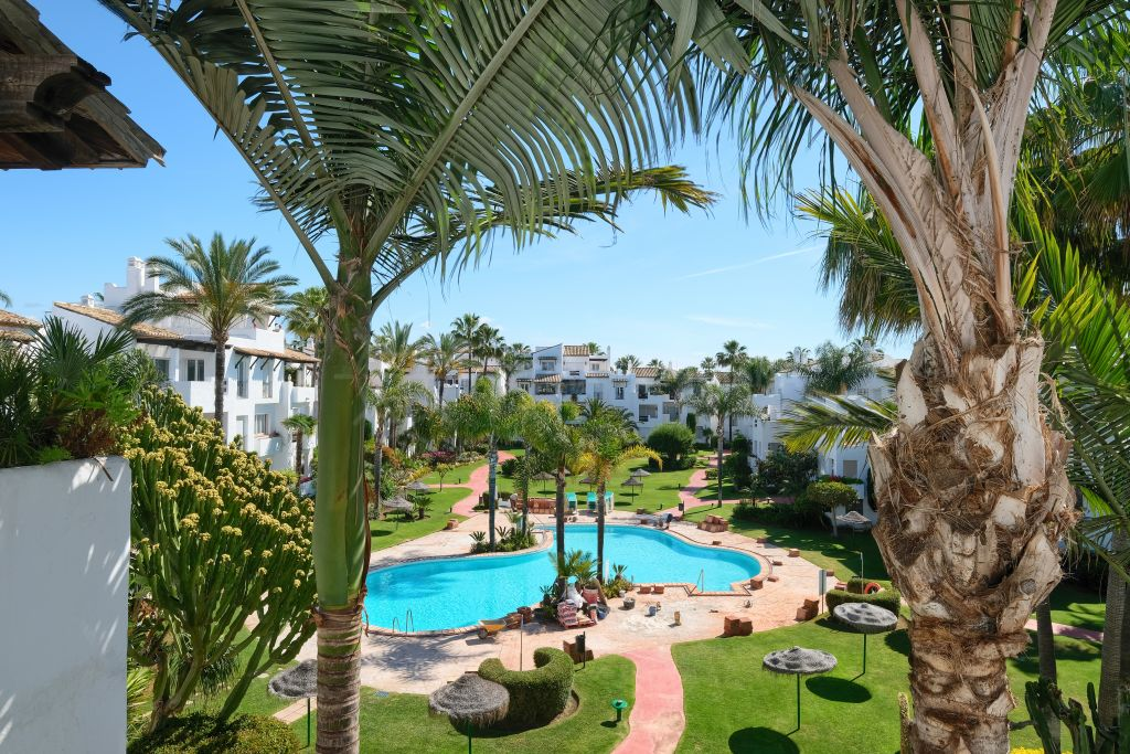 Estepona, Elegant 2 bedroom duplex penthouse for sale in the prestigious beachfront development of Costalita, New Golden Mile, Estepona