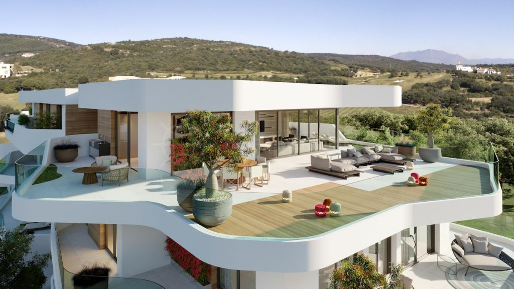Sotogrande, Off plan luxury penthouse for sale in the ultra-exclusive community of Village Verde, adjacent to La Reserva Club Sotogrande