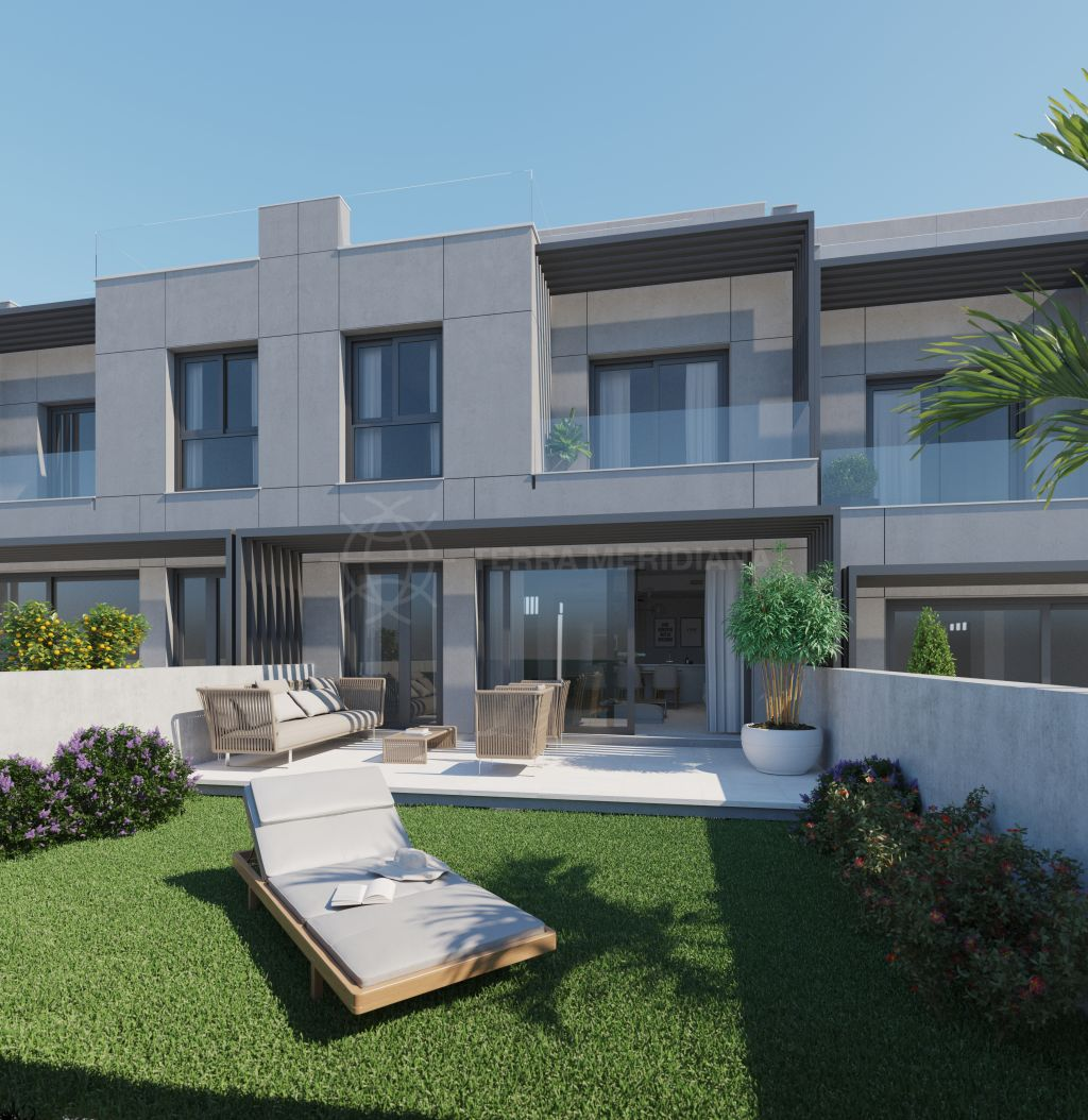 Estepona, Brand new deluxe 3 bedroom townhouse with private garden for sale in Vanian Valley, New Golden Mile, Estepona
