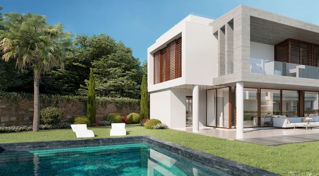 Marbella Golden Mile, Off plan semi-detached luxury contemporary villa with private pool for sale in The Collection, Marbella Golden Mile