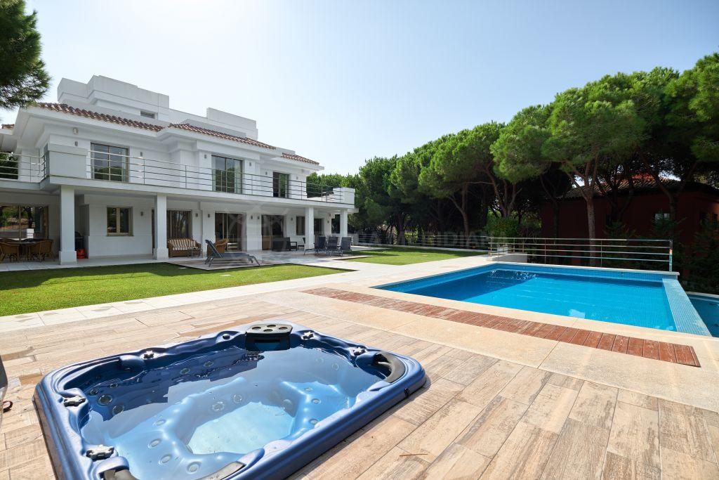 Marbella East, Exceptional new built villa set in a park-like garden for sale in Hacienda Las Chapas, Marbella East