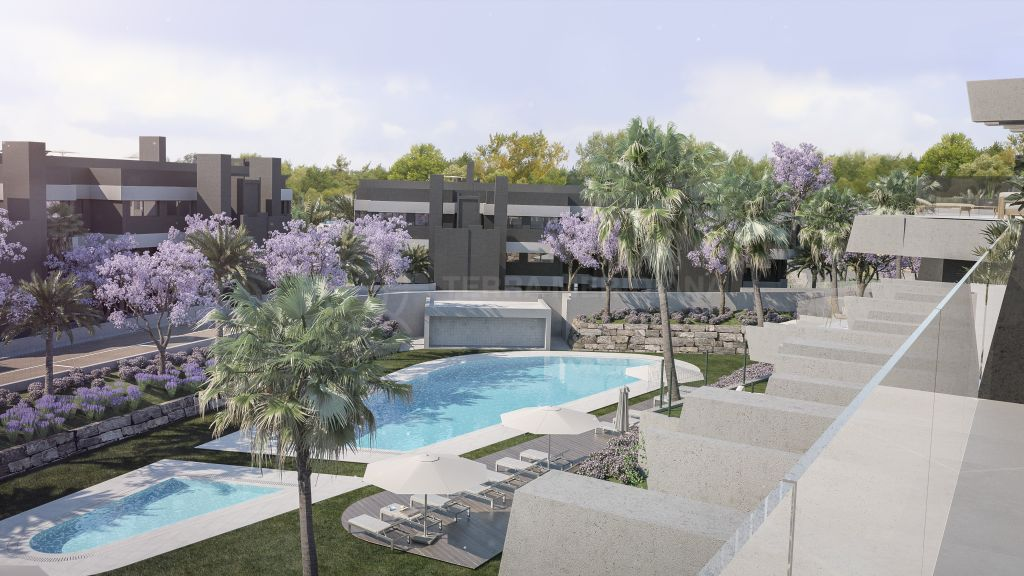 Estepona, Modern ground floor apartment with private garden for sale in the new development of Oasis 325, La Resina Golf, Estepona