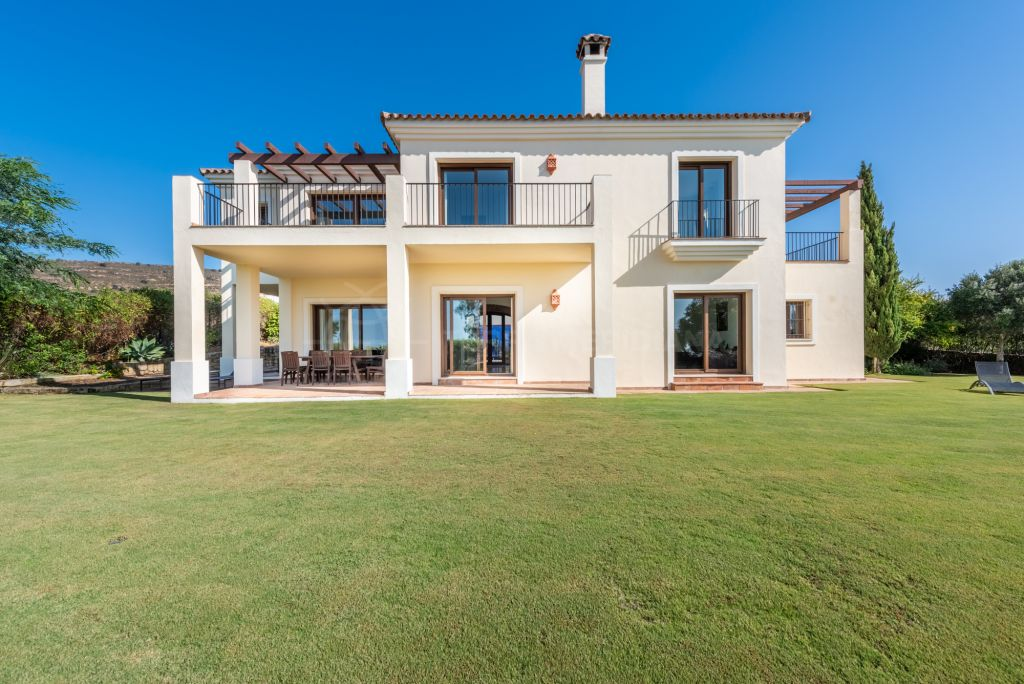 Sotogrande, Classical Mediterranean style south-facing villa with scenic sea views for sale in San Diego, Sotogrande