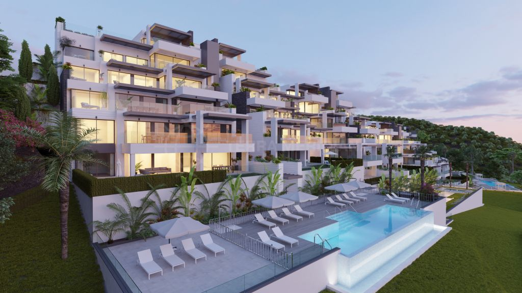 Benahavis, Stunning off plan first-floor apartment with sea views for sale in Aqualina Residences, Benahavis