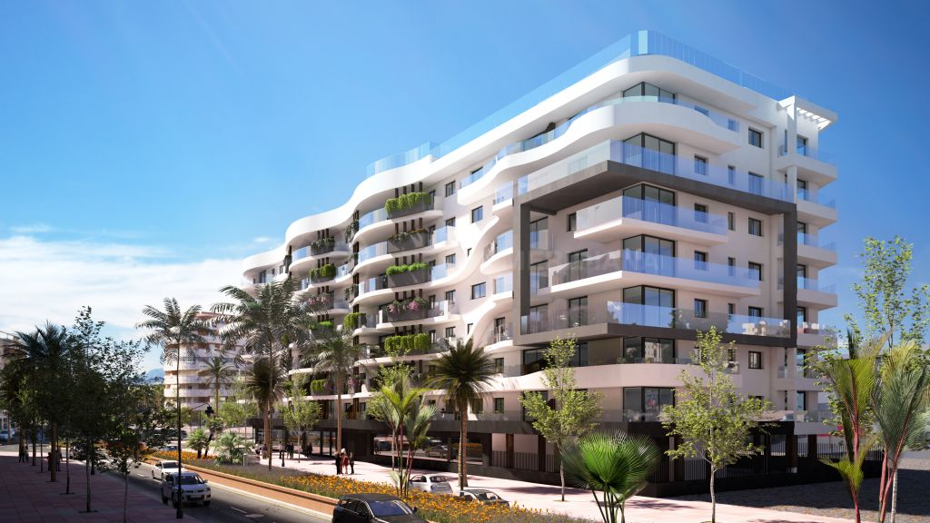 Estepona, Off plan contemporary 2 bedroom apartment for sale in a prominent area of Estepona centre