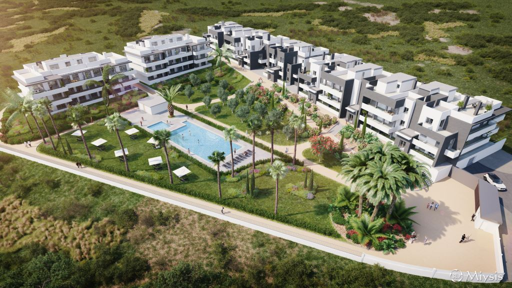 Estepona, Off plan ground floor 2 bedroom apartment with private garden for sale in Serenity Views, Estepona