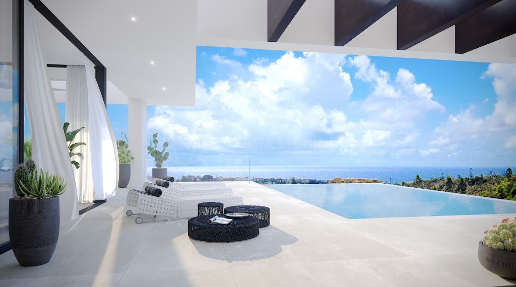 Estepona, Off plan contemporary 4 bedroom villa with postcard-like views for sale in The View, Estepona