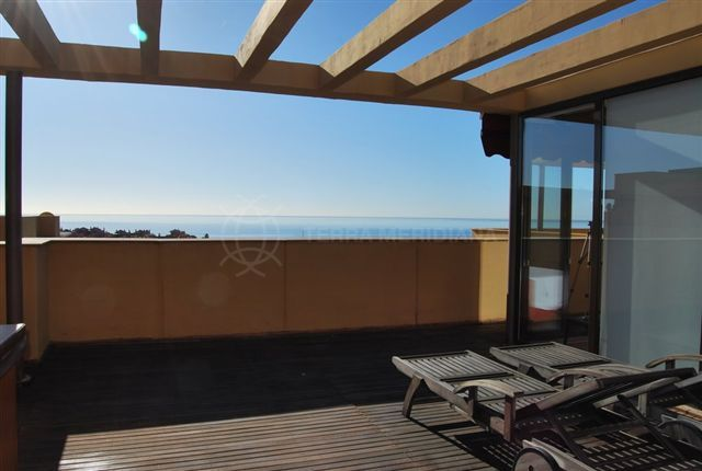 Estepona, Luxury penthouse with great sea views for sale in the much sought after beachside complex of Las Salinas, Guadalmansa, Estepona
