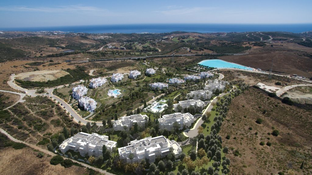 Casares, Remarkable brand new first floor apartment centred around a watersports lagoon for sale in Alcazaba Lagoon, Casares