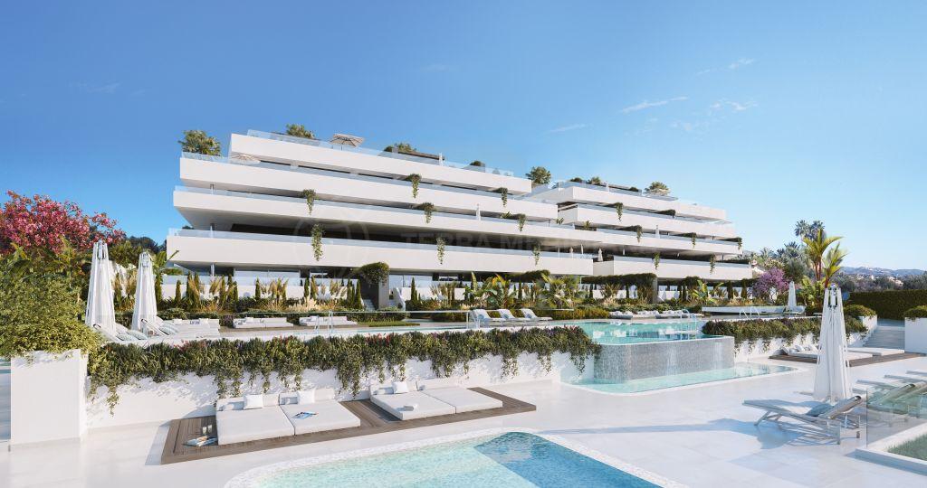 Estepona, Captivating second floor apartment with large terrace for sale in El Campanario Hills, New Golden Mile, Estepona