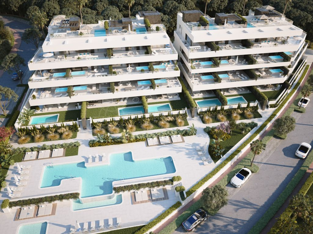 Estepona, Fabulous ground floor apartment with private garden for sale in El Campanario Hills, New Golden Mile, Estepona