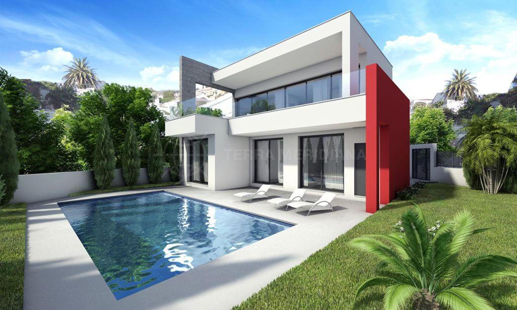 Casares, Sleek and stylish off-plan modern villa walking distance to the beach for sale in Casares Golf, Casares
