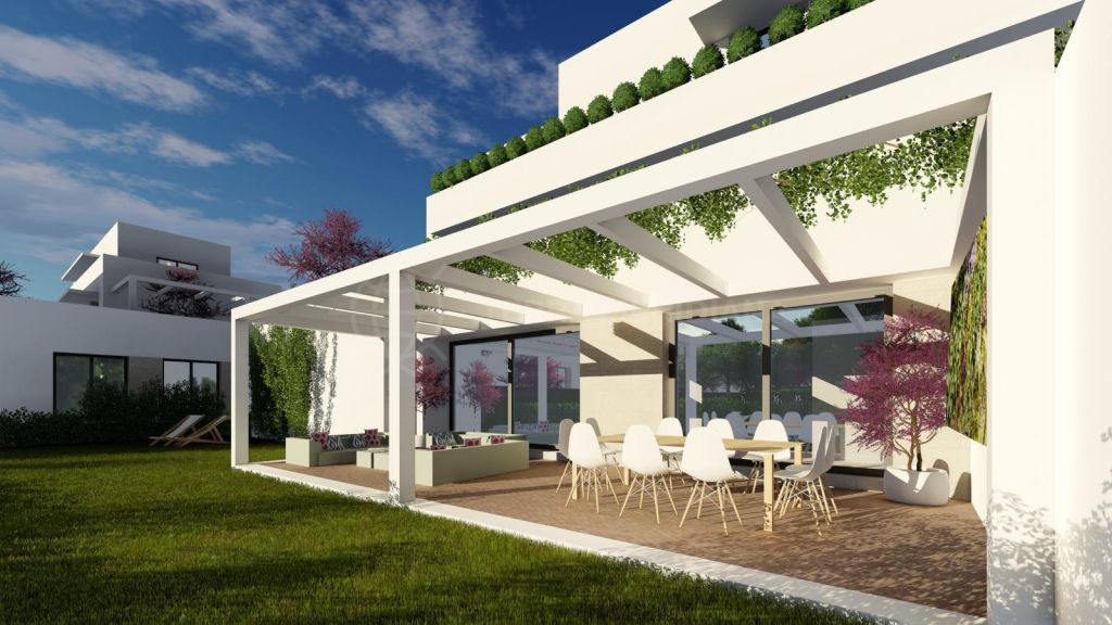 Sotogrande, Superb brand new contemporary ground floor apartment in an oak forest for sale in Senda Chica, La Reserva, Sotogrande