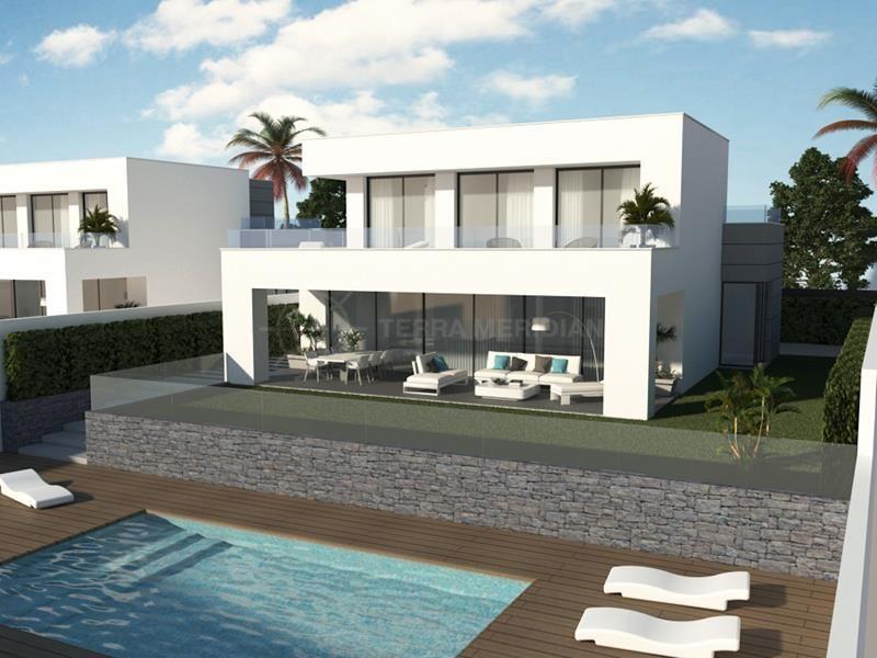 Manilva, Modern off-plan villa with golf and sea views for sale in Villa Duquesa Golf & Beach, Los Hidalgos, Manilva
