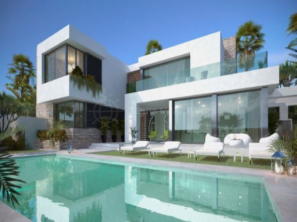San Pedro de Alcantara, Magnificent brand new luxury beachside villa for sale in San Pedro Playa, San Pedro de Alcantara