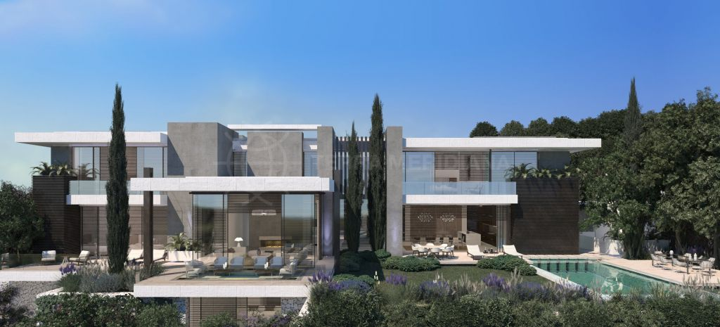 Benahavis, Off-plan modern luxury villa with panoramic sea views for sale in The Hills, La Quinta, Benahavis