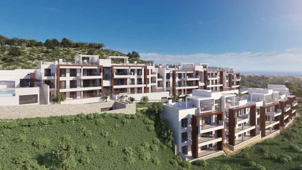 Benahavis, Modern off-plan first floor apartment with panoramic views for sale in Alborada Homes, Benahavis