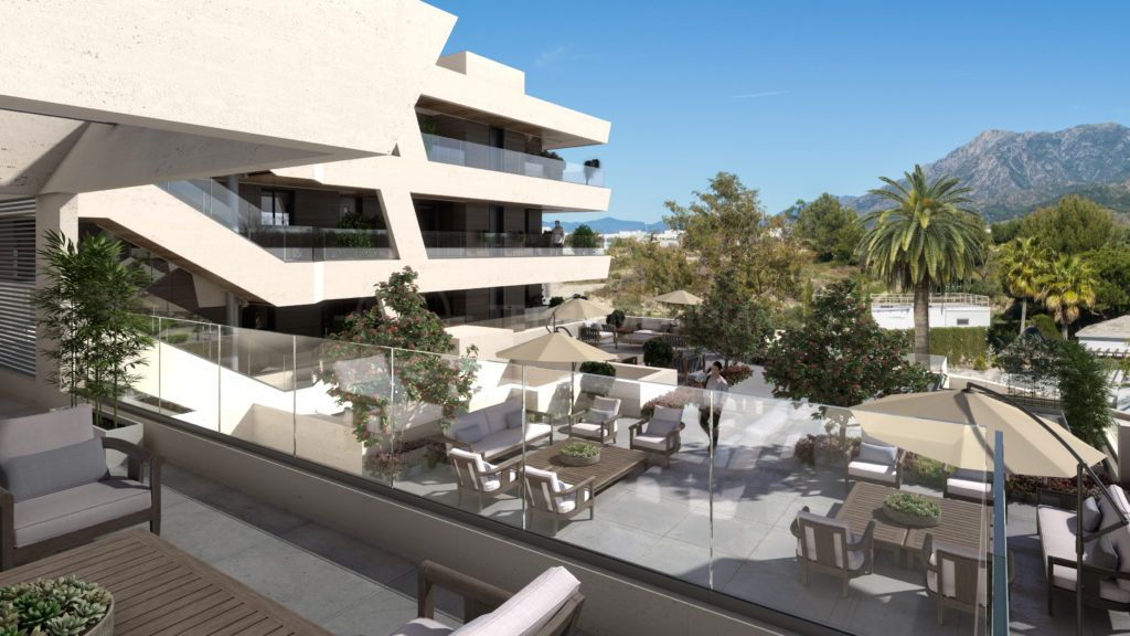 Marbella East, Tasteful off plan first floor apartment within walking distance to the golf club for sale in Rio Real, Marbella East