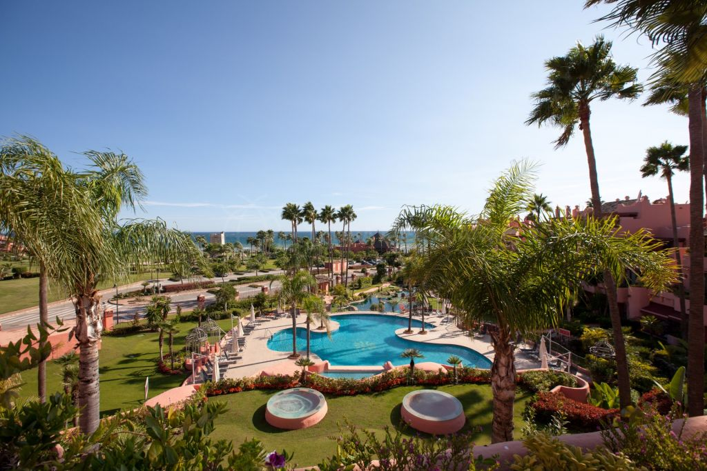 Estepona, Duplex penthouse for sale in Cabo Bermejo with sea views and large private terraces