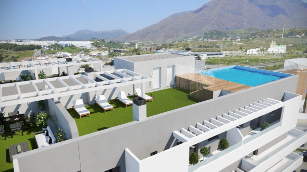 Estepona, 3 bedroom apartment for sale in brand new complex with community roof-top pool.