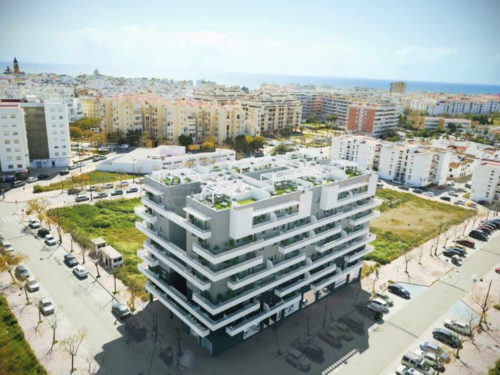 Estepona, 3 bedroom Penthouse for sale in a brand new development in Estepona town centre, with private solarium.