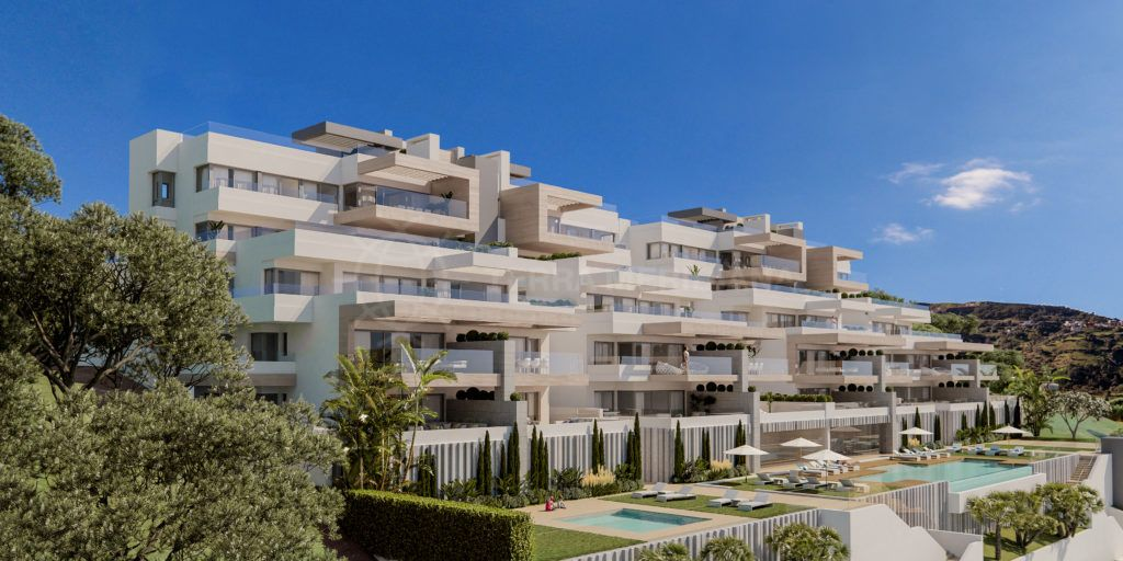 Estepona, 3 bedroom apartment for sale in brand new complex  in Estepona, walking distance to the port with sea views