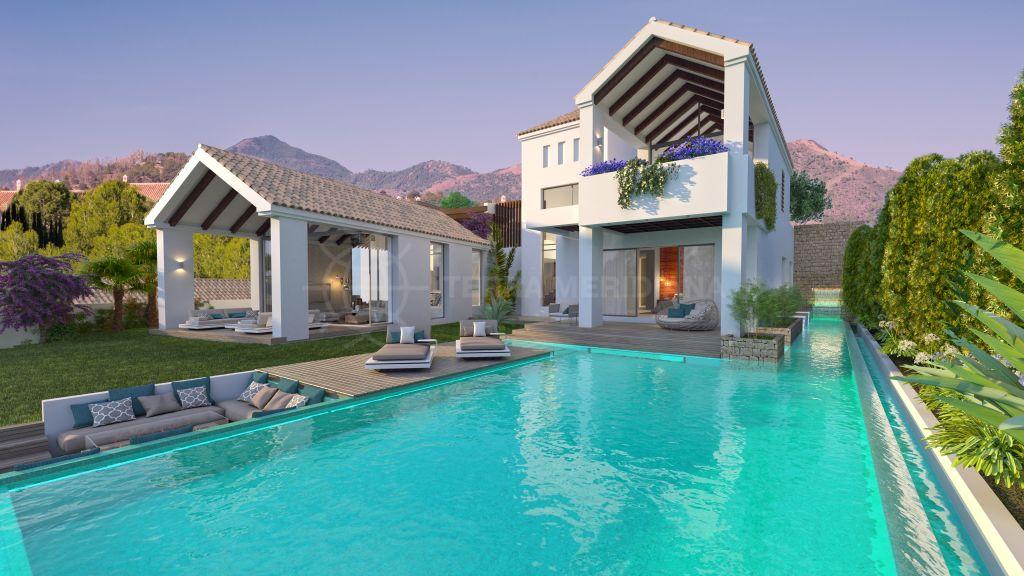 Estepona, Magnífica villa contemporánea en venta en The Heights, La Resina Golf, Estepona