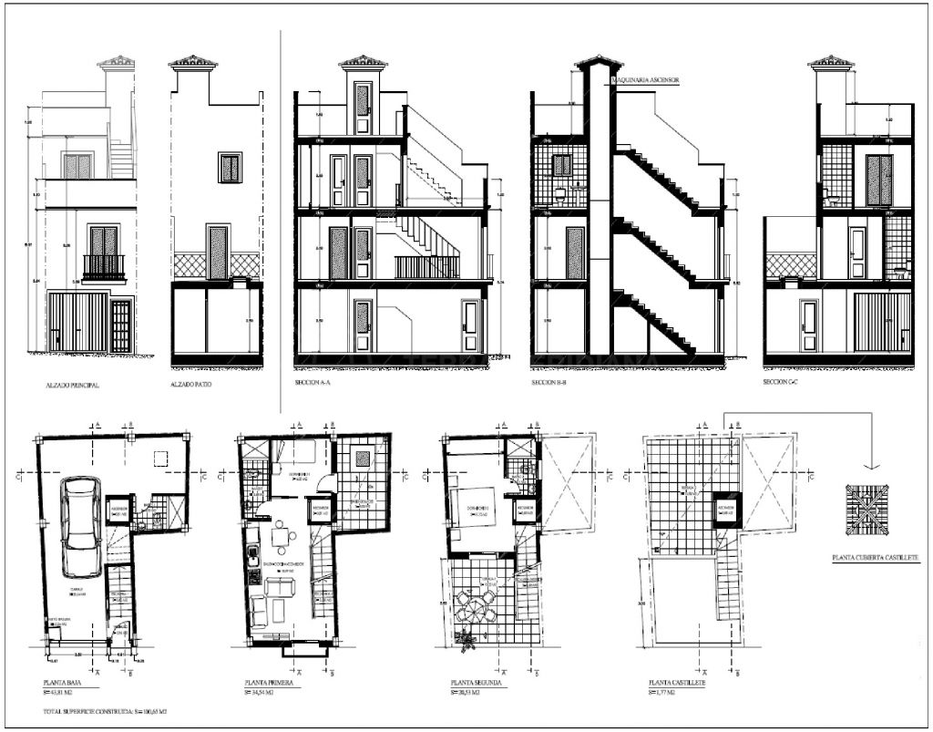 Estepona, Plot for sale with project and building licence for a townhouse in the old town of Estepona