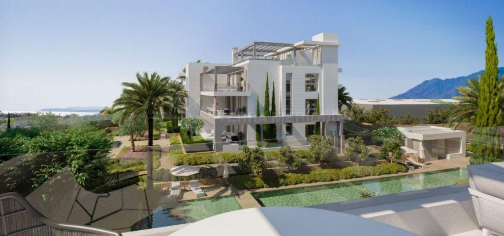 Estepona, Elegant contemporary first-floor apartment for sale in Syzygy, Estepona