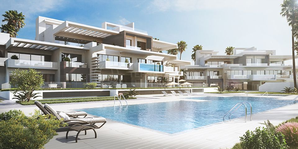 Marbella Golden Mile, Contemporary and elegant ground floor apartment for sale in Las Lomas del Marbella Club, Marbella Golden Mile