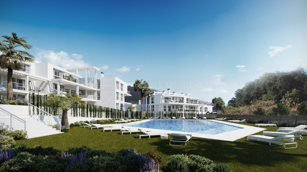 Benahavis, Impressive brand new luxury first floor apartment for sale in the village of Benahavis