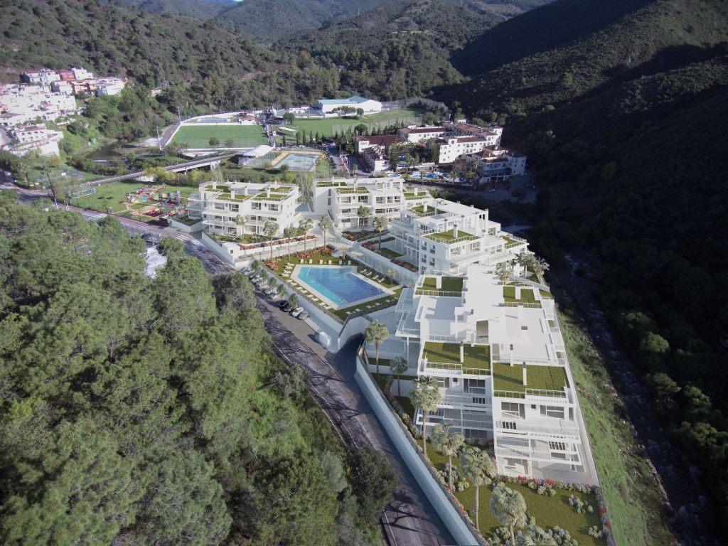 Benahavis, Gorgeous brand new luxury duplex penthouse for sale in the village of Benahavis