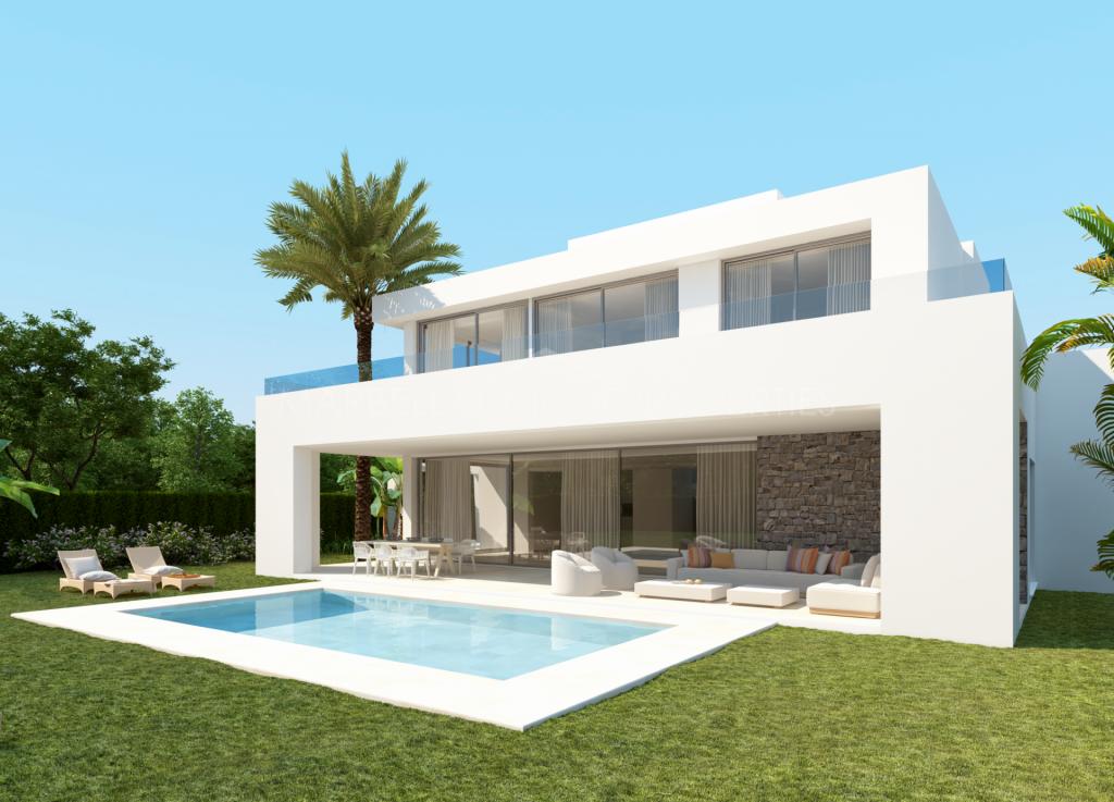 Modern classic designer villa in the quiet area of Rio Real, Marbella East