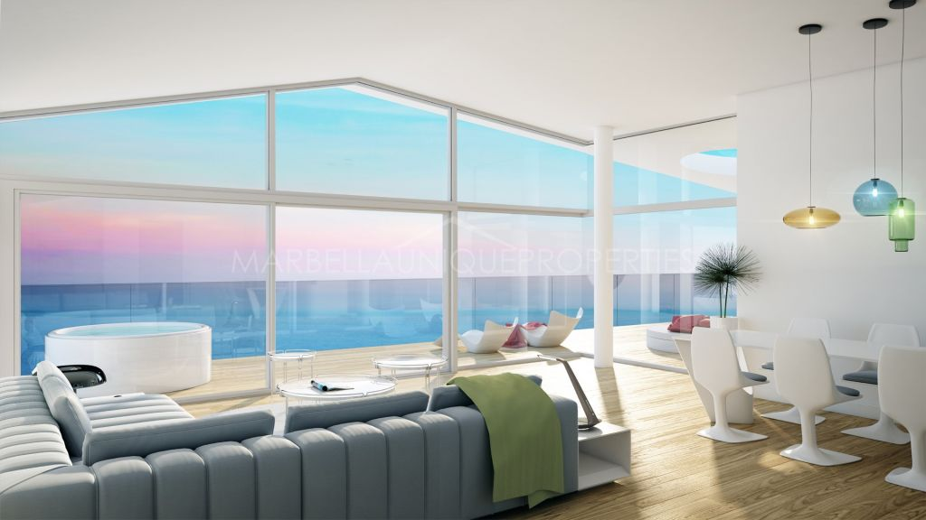 Spectacular panoramic views of the Mediterranean Sea from this modern penthouse