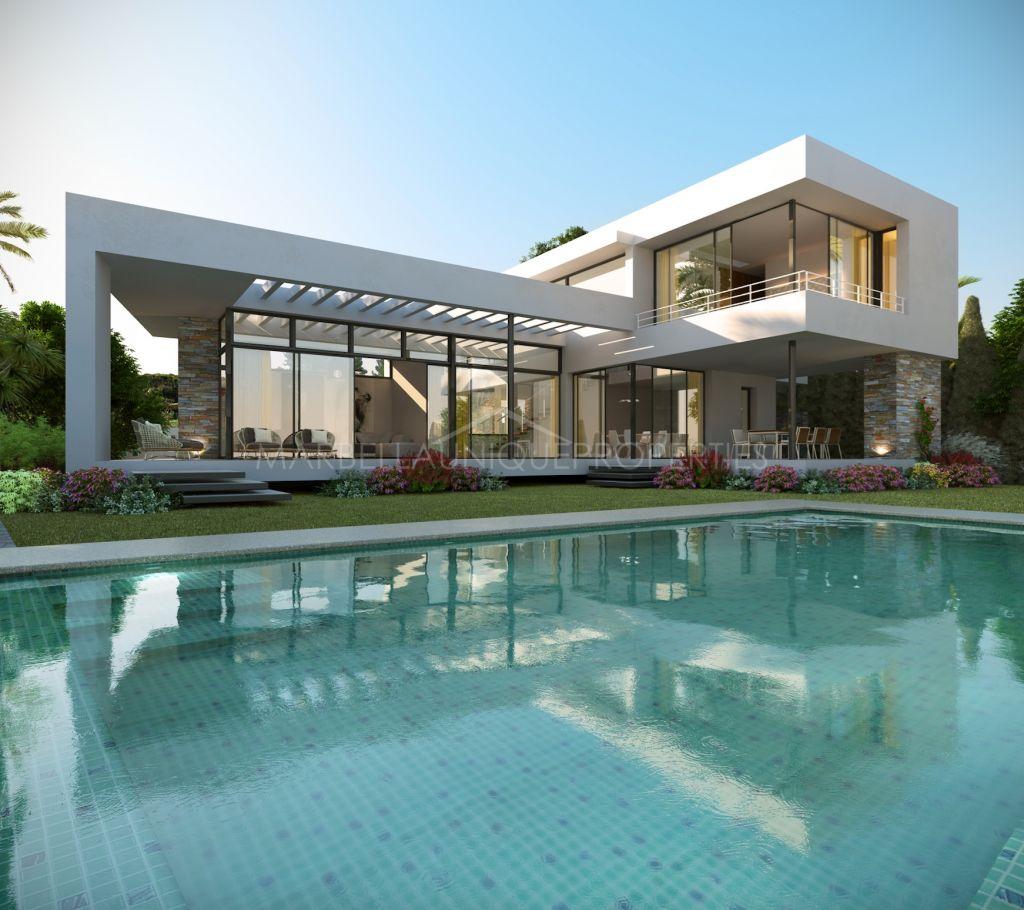 Luminous brand new villa on two floors in Nueva Andalucía