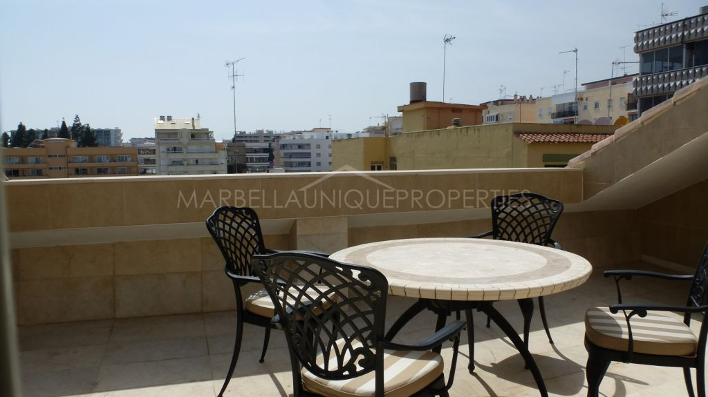 Unique duplex penthouse apartment in the heart of Marbella Centre