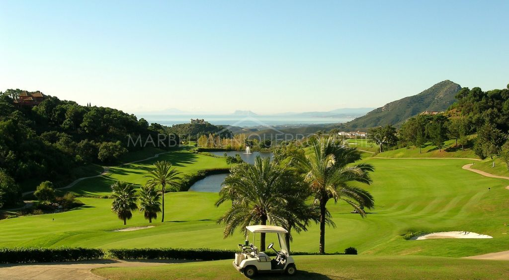 A stunning west facing plot with views located  in La Zagaleta